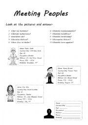 English Worksheet: Meeting People - Personal Information