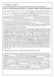 English Worksheet: Mid-Term Test N�3 (4th form)