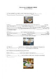 English Worksheet: Homemade cheese