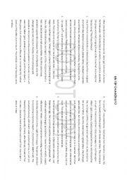 English Worksheet: sequence of tenses WORKSHEET
