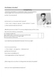 English Worksheet: Elvis Presley - Part 1
