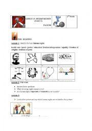english worksheets human rights frederick douglass second form. Black Bedroom Furniture Sets. Home Design Ideas