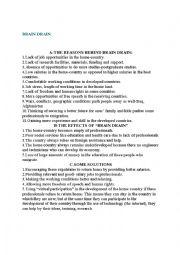 English Worksheet:  2Brain drain