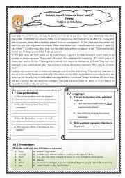 English Worksheet: Bullying