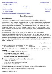 English Worksheet: saving water