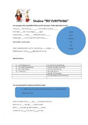 English Worksheet: Try everything by Shakira