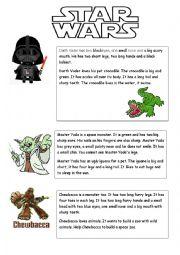 English Worksheet: Animal - text (Star Wars theme)