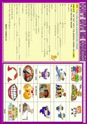 English Worksheet: Don�t give me orders!: song  video activity : jobs , imperatives, and family voc