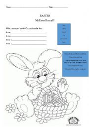 English Worksheet: Easter bunny