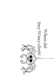 Incy Wincy Spider writing activity