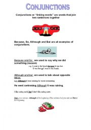 English Worksheet: Conjunctionss
