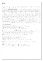 English Worksheet: nepotism