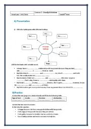 English Worksheet: Module 5 Lesson 3 : Family Relationships