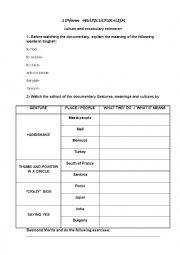 English Worksheet: cultures and stereotypes