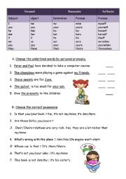 Pronouns and determiners