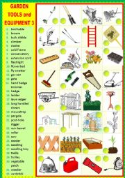 English Worksheet: Gardening tools and equipment 3 Matching