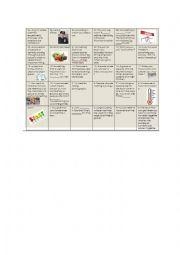 English Worksheet: word board