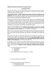 English Worksheet: Living with my father