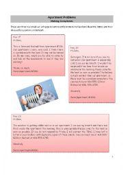 English Worksheet: Apartment Complaints