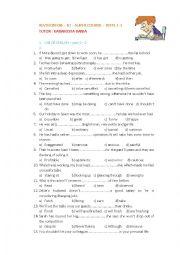B2 Use - Grammar - Vocabulary