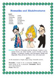 English Worksheet: Neznaika play script