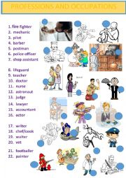 English Worksheet: PROFESSIONS, JOBS VOCABULARY + SONG