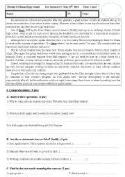 2nd Bac - Test Semester 2