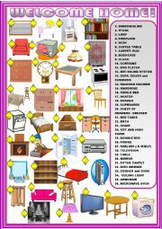 English Worksheet: furniture :matching activity.