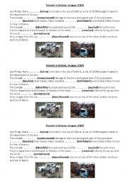 English Worksheet: Tornado in Uruguay