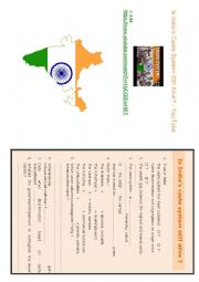 English Worksheet: The caste system in India
