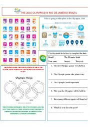 English Worksheet: Olympics 2016
