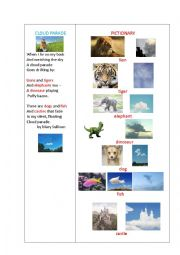 English Worksheet: CLOUD PARADE (a poem)