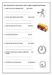 English Worksheet: WH- QUESTIONS