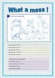 English Worksheet: HOW many