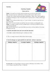 English Worksheet: Complaint