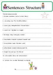 Sentence Structure 2