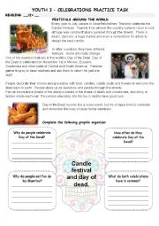 English Worksheet: Celebrations around the world