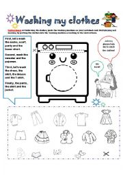English Worksheet: CLOTHES: ACTIVITY CARD