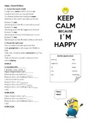 English Worksheet: Happy by Pharrell Williams