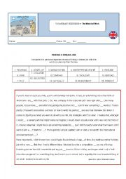English Worksheet: The world of work - Vocabulary