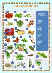 English Worksheet: herbs and spices