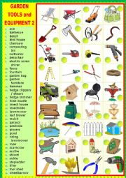 English Worksheet: Gardening tools and equipment 2