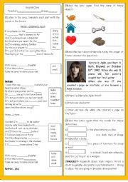 English Worksheet: Song_Music_Home_Gabrielle Aplin_Text Comprehension