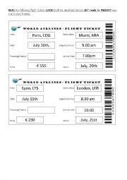 Planning my holidays - Flight tickets