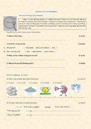 ENGLISH TEST FOR BEGINNERS