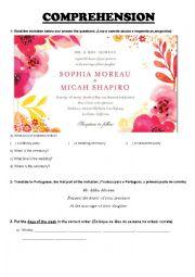 English Worksheet: Reading - Invitation
