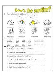 english worksheets the weather worksheets page 33. Black Bedroom Furniture Sets. Home Design Ideas