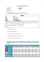 English Worksheet: Memo