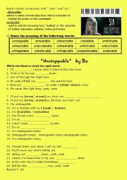 Song Unstoppable by Sia - ESL worksheet by narricc
