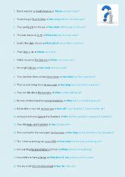 English Worksheet: Practising asking questions